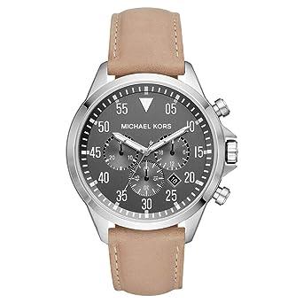 Michael Kors Reloj Analógico para Mujer de Cuarzo con Correa en Cuero MK8616: Amazon.es: Relojes