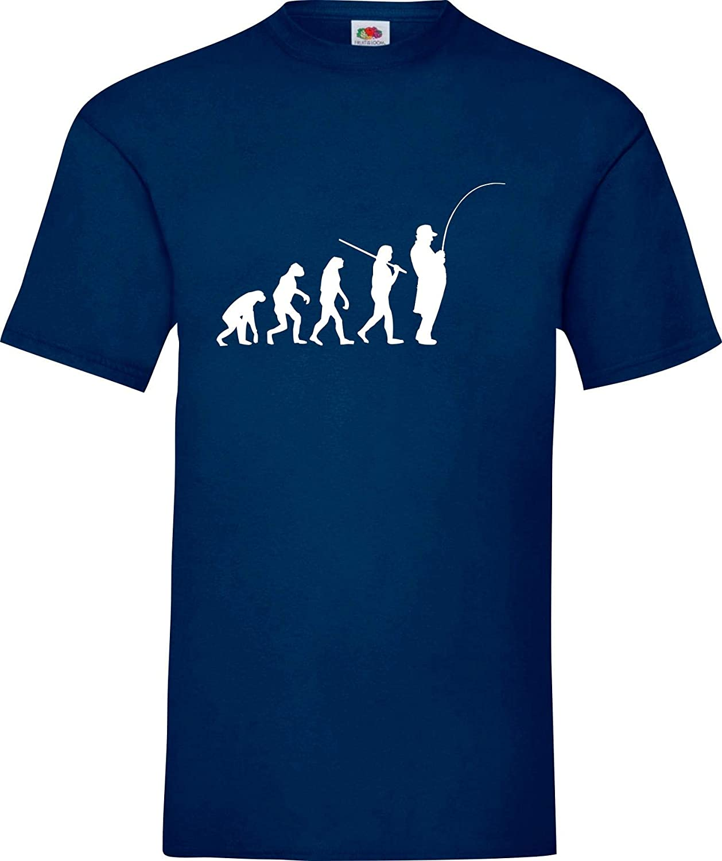 Shirtinstyle Camiseta de Evolución Pescador Pesca Pesca ...