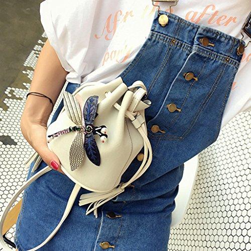 Messenger Bags Women Butterfly Shoulder Hobo Green Purse White Handbag Decor Tote JAGENIE Crossbody UqYHnfctq