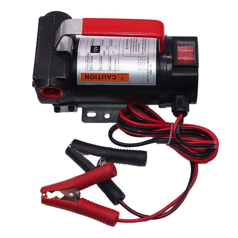 Oukaning Pompe diesel pompe à fuel pompe de récupération d'huile pompe à carburant pompe à huile 40 l/min 12 V
