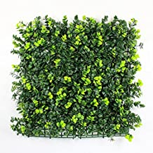 """Artificial Boxwood Hedges Panels, Plastic Green Plant Fence for Outdoor, Privacy Fence Screen, Wall Garden Home Decoration, 6pcs 20""""x20"""""""