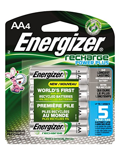 Energizer Recharge Rechargeable Batteries Pre Charged