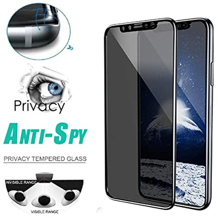 new arrival 0a814 44d3a Privacy Tempered Glass Protector For Iphone XS Max 6.5 inch, Full Coverage  Film