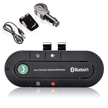 Hengda - Manos Libres para Coche (Bluetooth V4.2, Manos ...