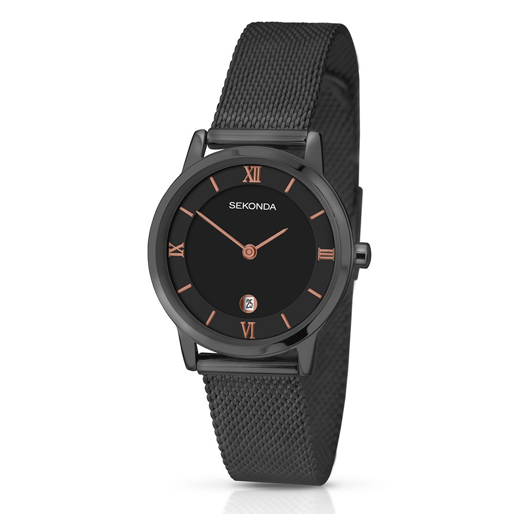 Sekonda Womens Quartz Watch With Black Dial Analogue Display And