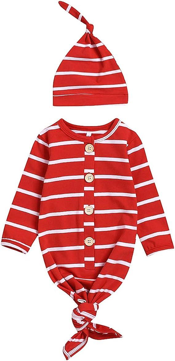 puseky camisón de bebé recién Nacido Manga Larga Ropa de Dormir Bata Saco de Dormir con Sombrero Llevar Traje de casa: Amazon.es: Ropa y accesorios