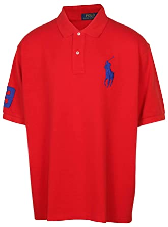 804bdcf8 Polo Ralph Lauren Men's Big & Tall Mesh Big Pony Shirt at Amazon Men's  Clothing store: