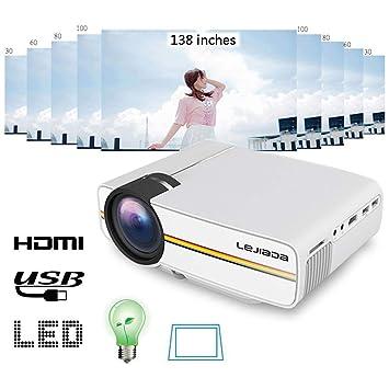 Proyector Portátil Mini Proyector LED Vertical corrección ...