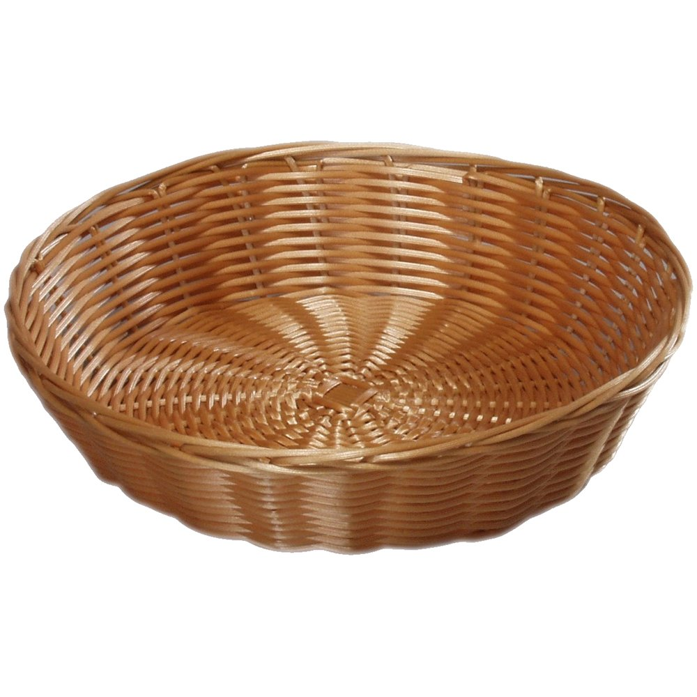 Kesper 17830 9.06'' x 9.06'' x 2.36'' round Bread basket of Plastic mesh, Brown