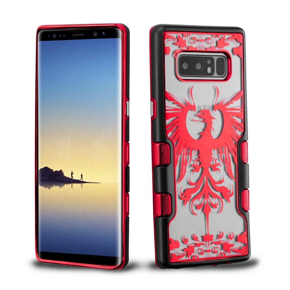 Galaxy Note 8ケース, MYBAT Tuff Eagle Crestデュアルレイヤ[衝撃吸収]保護ハイブリッドメタルPC/TPUラバーケースカバーfor Samsung Galaxy Note 8 ,レッド/ブラックB077GRLM6Z