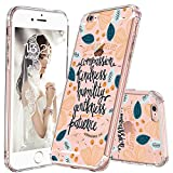 MOSNOVO iPhone 6S Case/iPhone 6 Case Slim, Floral with Flower Cloth Yourselves Quote Clear Design Transparent Plastic Back Case and Soft TPU Bumper Protective Cover for iPhone 6/iPhone 6S - Cloth Your
