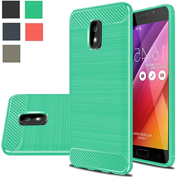 newest 3f538 8d517 Asus Zenfone V Live Case, Boythink TPU Brushed Texture Anti-Drop Soft Back  Cover Rubber Shockproof Full-Body Protection Case Cover For Asus Zenfone V  ...
