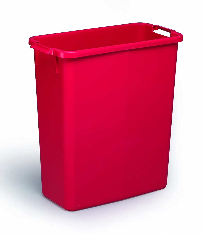 Durable Durabin 60 L color plateado Papelera rectangular