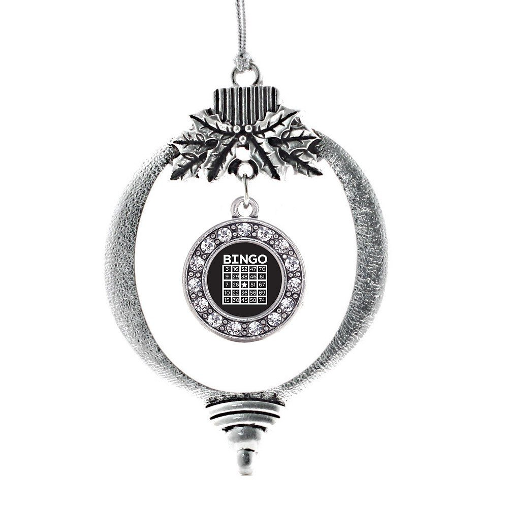 Inspired Silver Bingo Circle Holiday Decoration Christmas Tree Ornament by Inspired Silver