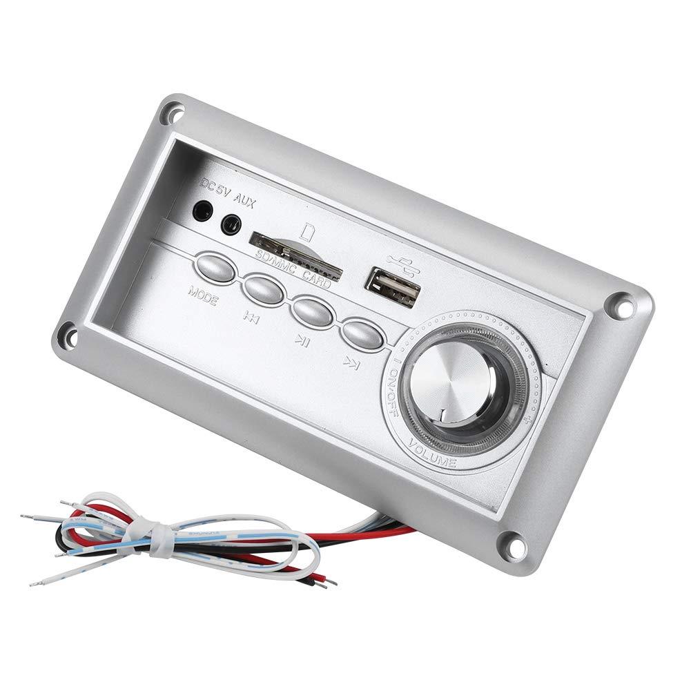 ASHATA Scheda del decoder MP3 Bluetooth Senza Fili Modulo Radio FM Audio con Slot per Scheda SD nella Porta USB ausiliaria