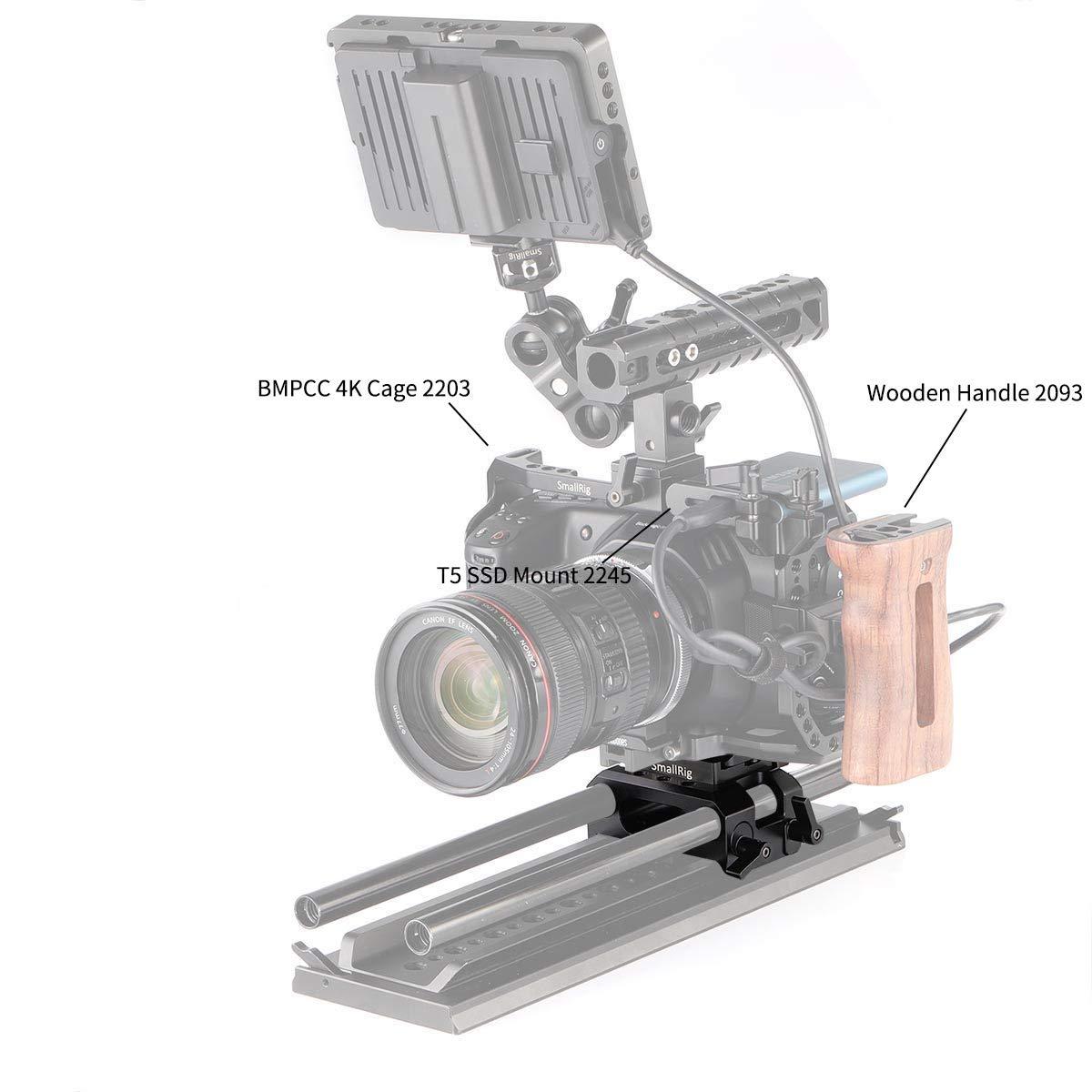 SMALLRIG BMPCC Baseplate Placa Base con 15mm Rod Clamp para ...