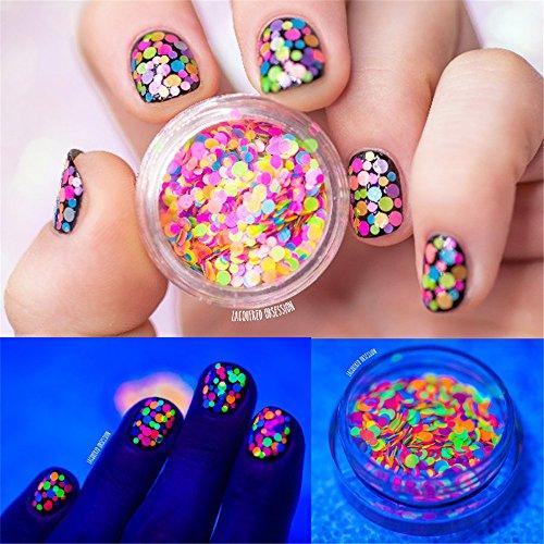 NICOLE DIARY 1mm-2mm Multicolor Nail Glitter Sugar Sequins Mini Round Thin Paillette Design Nail Art Decoration, 1 Box