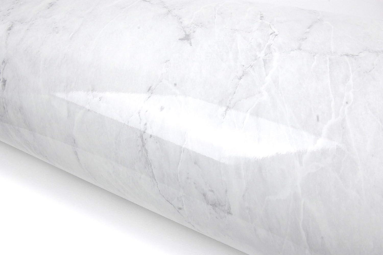 Granite Look Marble Effect Interior Film Vinyl Self Adhesive Peel-Stick Counter Top [Grey Marble(6.5ft)]