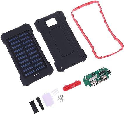 lyqdxd 10000 mAh Panel Solar Power Bank Case Dual Puertos USB Cargador Conciso Kit Caja de Kits DIY: Amazon.es: Electrónica