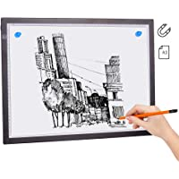 Sazoley A3 Magnetic LED Light Pad Artcraft Tracing Light Box Tracer Copy Board USB Powered Brightness Dimmable for…
