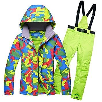 Zjsjacket Traje de Esqui Chaqueta Impermeable para Mujer Traje de esquí Snowboard Chaquetas de montaña Conjunto