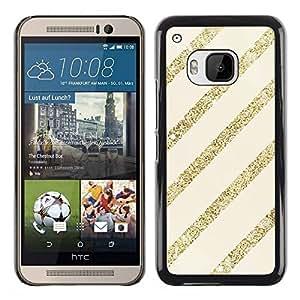 Paccase / SLIM PC / Aliminium Casa Carcasa Funda Case Cover - Gold Beige Pattern Bling Christmas - HTC One M9