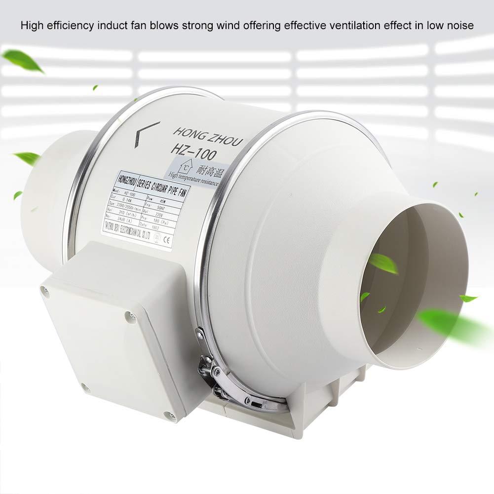 Quiet Duct Fan Inline Extractor Zerone Mixed Flow in Line Extractor Fan Inline Mixed Flow Fan Bathroom Extractor Shower Fan 4 Inch