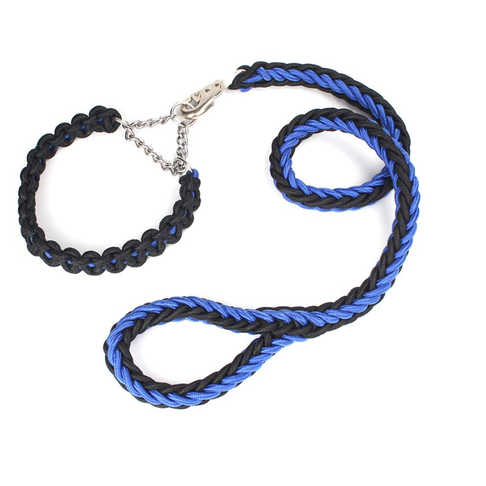 bluee black 3CM bluee black 3CM Dog Hyena Rope Collar Dog Chain P Chain Traction Rope