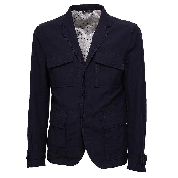 Dolce & Gabbana 2417X Giacca uomo Blue Jacket Men: Amazon.es: Ropa y accesorios