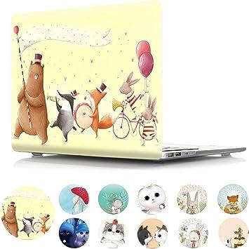 MacBook Air 13in Case Cartoon Rabbit Pretty Cute Pet Plastic Hard Shell Compatible Mac Air 11 Pro 13 15 MacBook Air 11 Case Protection for MacBook 2016-2019 Version