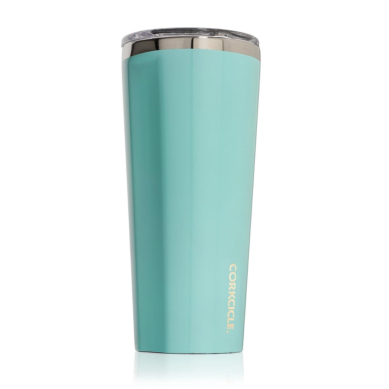 Corkcicleタンブラー断熱ステンレススチールボトル/魔法瓶 24 oz ブルー C2124GT B01G5JD9S4 24 oz|Gloss Turquoise Gloss Turquoise 24 oz