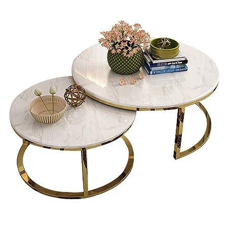 mesas de Centro Mesa de Centro Redonda Blanca Creativa Moderna de ...