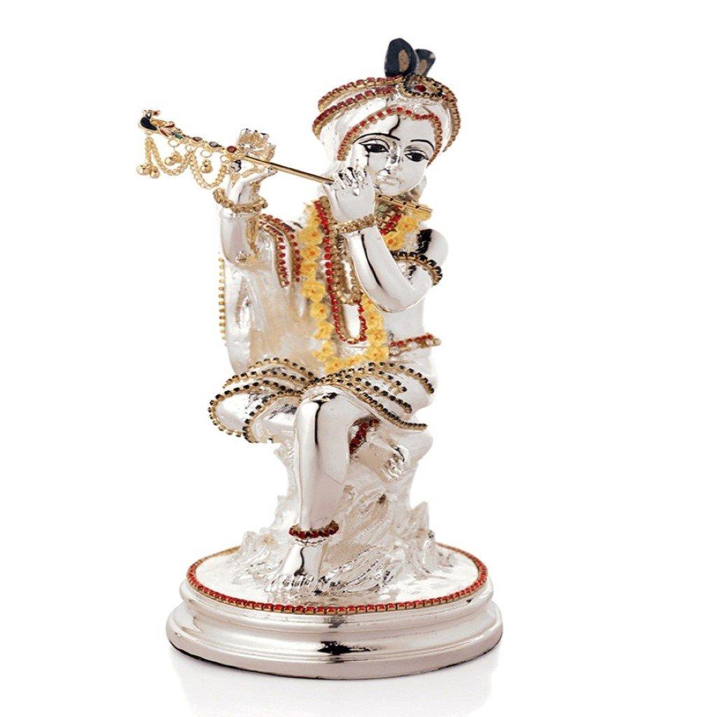 Buy Krishna Silver Plated Episode Bansuri - 91620 Online at Low
