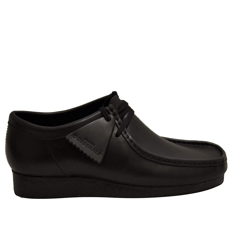 Amazon.com | CLARKS Originals Wallabee Mens Leather Moccasins (13, Black) | Boots