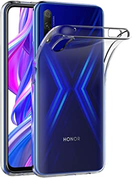AICEK Funda Compatible Honor 9X, Transparente Silicona Fundas para ...