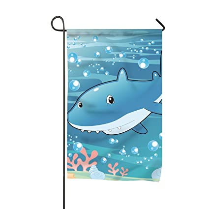 Amazon com : Baby Shark Illustration Double-Sided Printed
