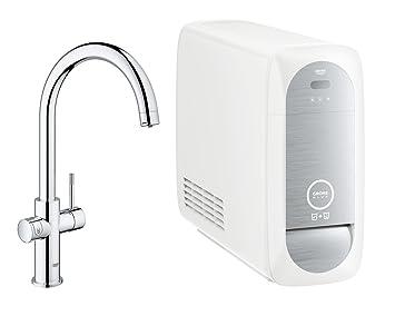 Grohe Blue Home Duo Küchenarmatur (2 In 1 Trinkwassersystem Und  Spültischarmatur, Gekühlt