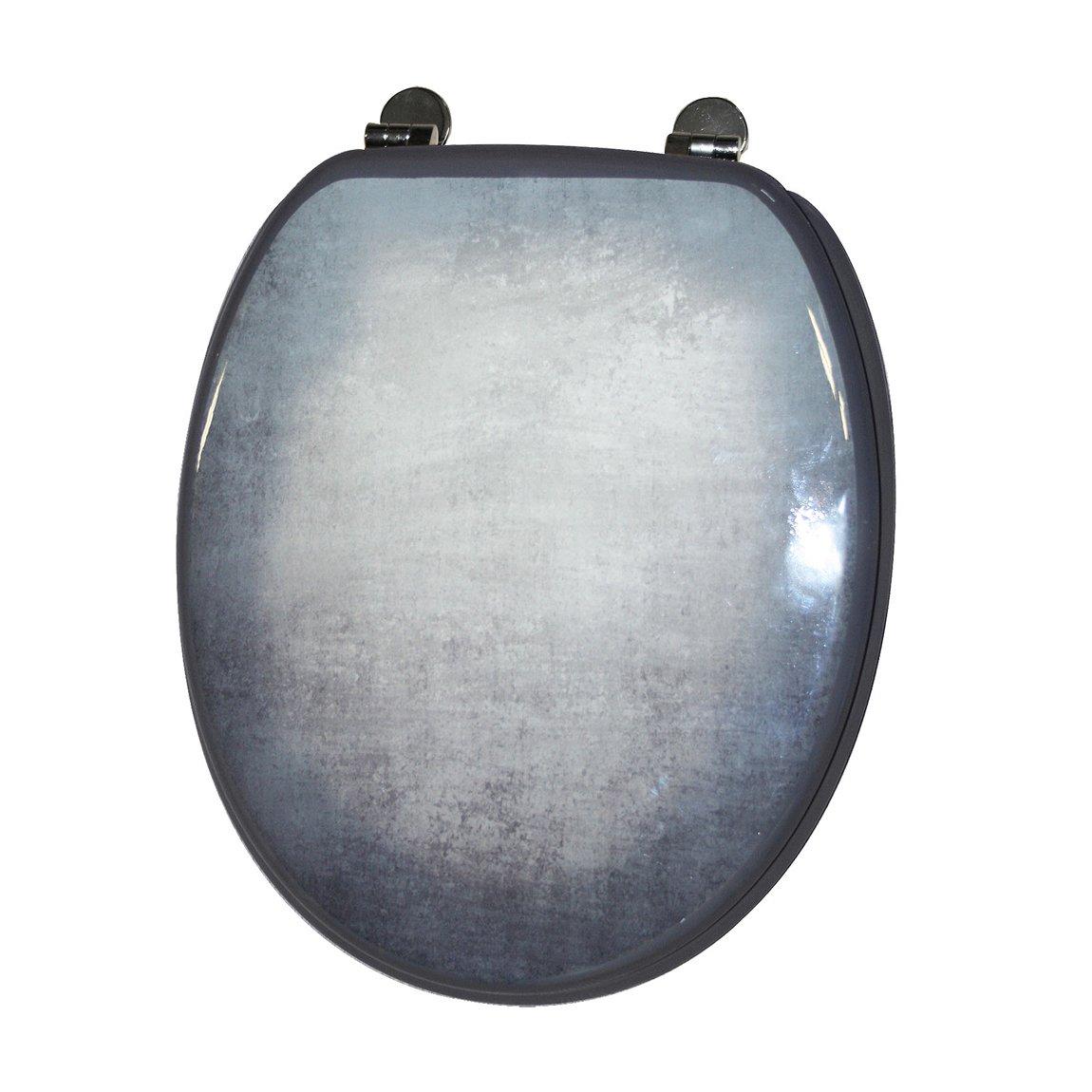 FRANDIS 191438/43,8/x 37,8/cm Beton Effekt WC-Sitz mit Metall Scharnier