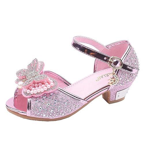497542b12 Sayla Zapatos Bailarina para NiñA Baile Tango Latino Vestir Fiesta NiñOs  PequeñOs NiñAs Perla Mariposa-Nudo Cristal Sola Princesa Zapatos De Baile  ...