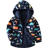 Vine Chaquetas de forro polar con capucha para niños reversibles