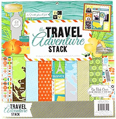 American Crafts Die Cuts with a View Stacks 12-x-12-Inch
