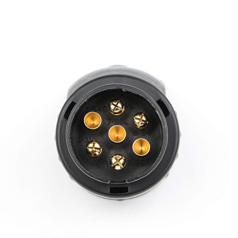 Spurtar Universal European 12V 7 Pin to 13 Pin Towing Winch Trailer Plug Adapter