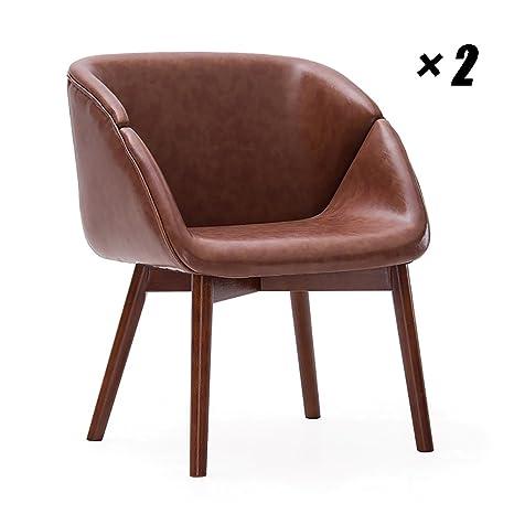 Amazon.com: Cómoda silla de comedor acolchada de poliuretano ...
