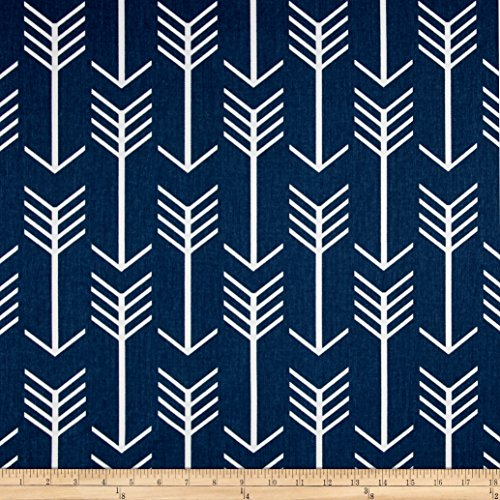 Premier Prints Arrow Twill Premier Navy/White Fabric By The Yard
