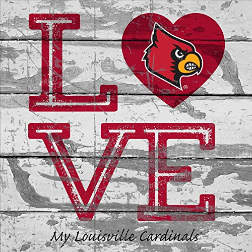 Prints Charming College Love My Team Logo Square Louisville Cardinals Unframed Poster 13x13 ()