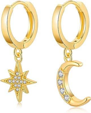 Boho earrings Gold drop earrings Gift for her Huggie hoop earrings Gold dangle earrings Silver hoop earrings Gold hoop earrings