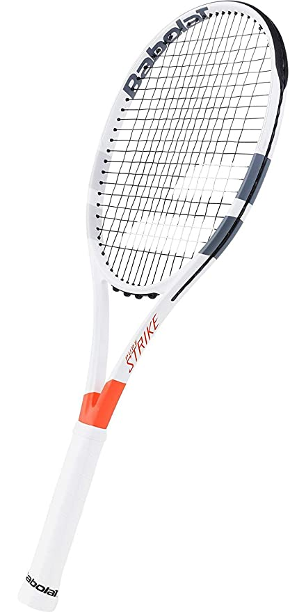 Amazon.com: Babolat Pure Strike 26 Junior Grey/Orange/White Tennis Racquet Strung SG Spiraltek in Custom Racket String Colors (Best Junior Racket for ...