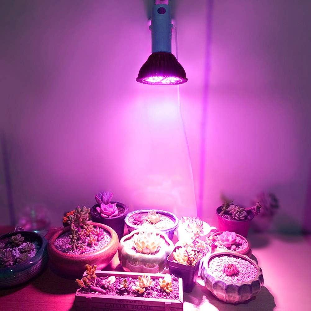48W E27 Pannello ad Alta Potenza Spettro Completo 48 LED Lampada per Coltivazione Indoor Coltiva la Lampadina per Serra Pianta Idroponica Pianta in Vaso Fiori Ortaggio Zerodis LED Coltiva la Lampada