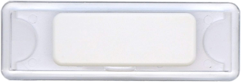 Edles Namensschild aus Kunststoff mit Magnet Name Badge f/ür die Kleidung selbstbeschriftbar rot, 75 x 40 mm