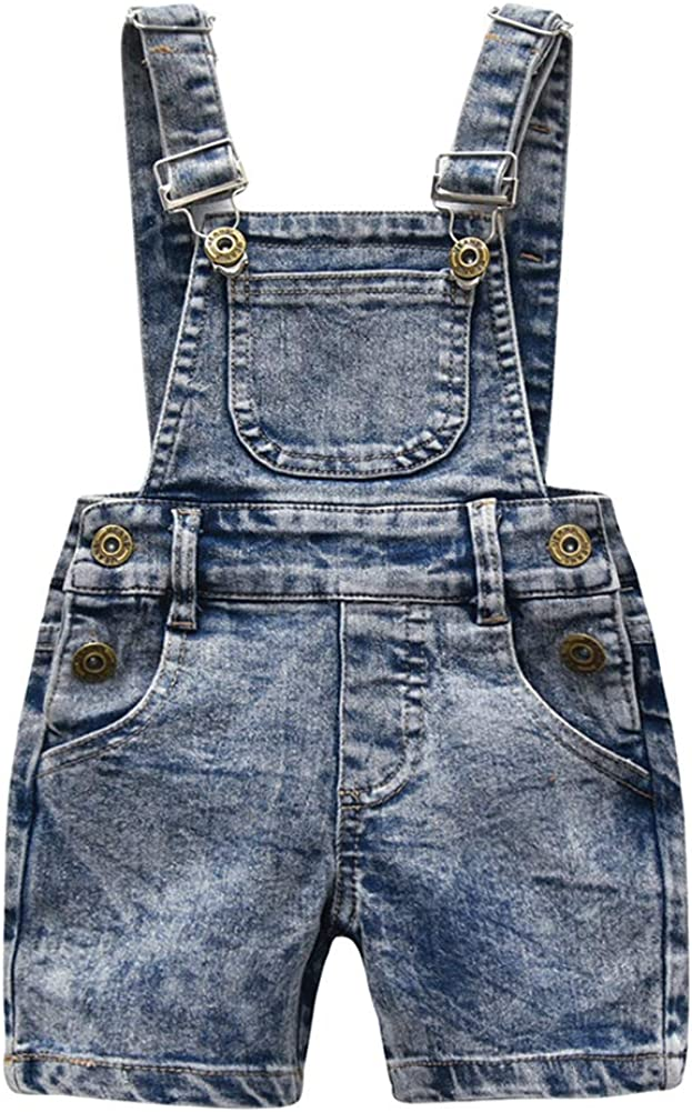 Mornyray Litter Boy Estate in Cotone Tinta Unita Jean Tasche Salopette Regolabili Salopette 3-8T